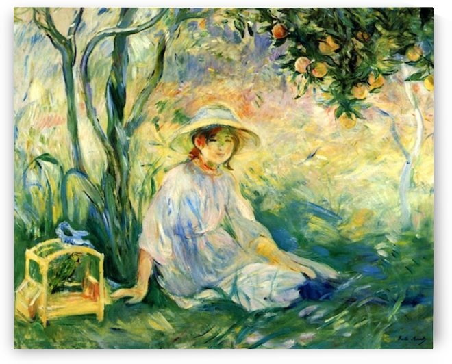 Under the Orangetree by Morisot by Morisot