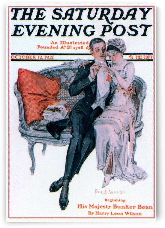 The Saturday Evening Post, Cover, Oct 12, 1912 by VINTAGE POSTER
