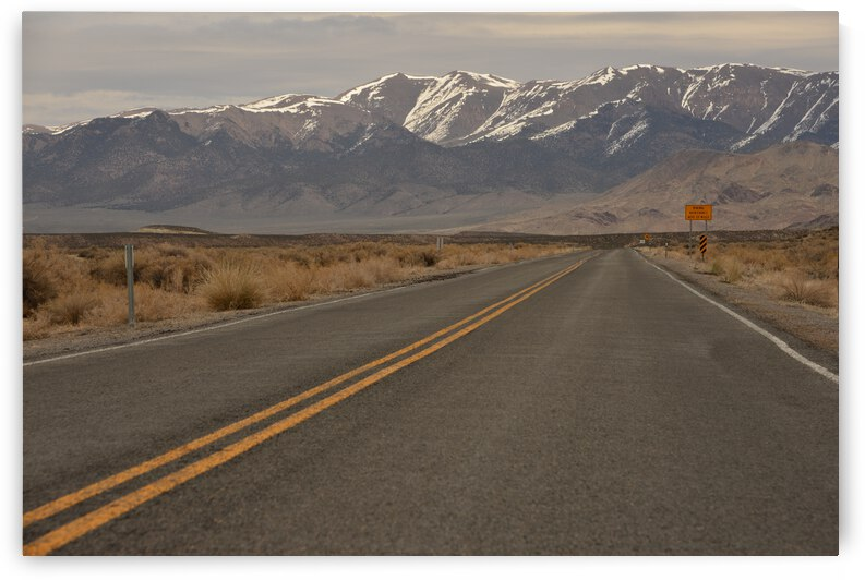 Empty Highway Heading To Iconic Mountains  by PieLar Inspirations