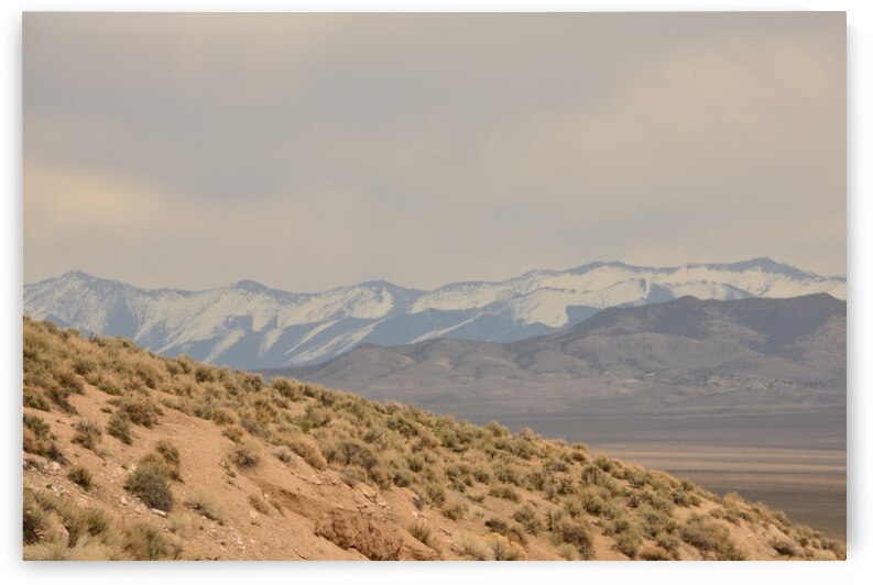Serene Sand Dunes And Snowcapped Mountains by PieLar Inspirations