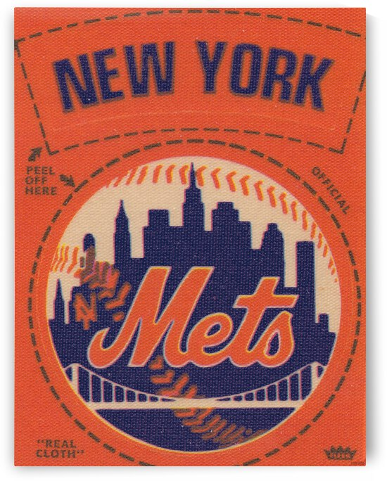 1969 New York Mets Fleer Decal Canvas Art by Row One Brand