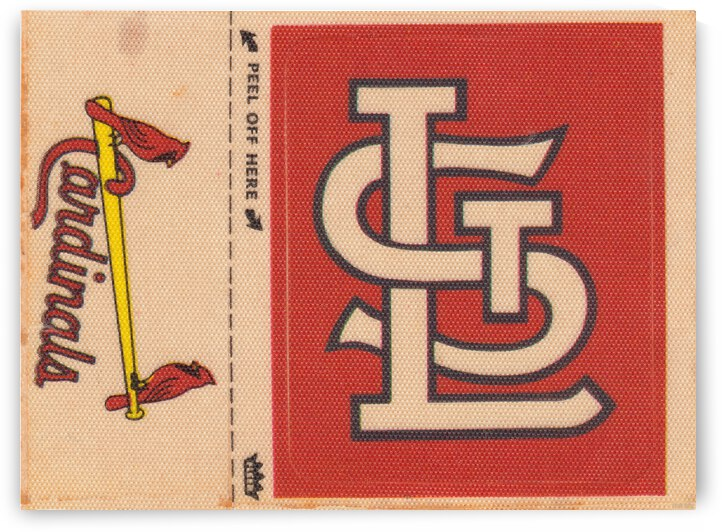 1969 St. Louis Cardinals Fleer Cloth Decal Art by Row One Brand