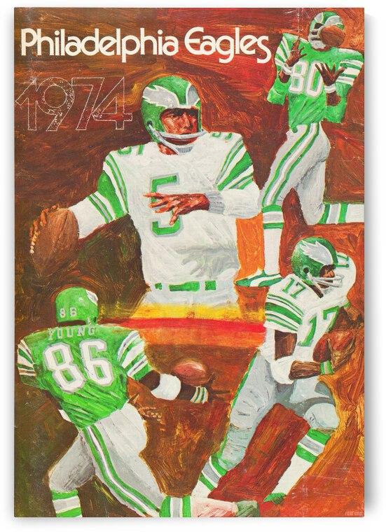 1974 Philadelphia Eagles Retro Poster by Row One Brand