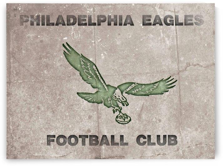 1974 Philadelphia Eagles Football Club Vintage Art by Row One Brand