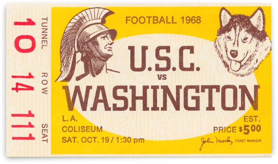 1968 USC Trojans vs. Washington Huskies Ticket Stub Canvas by Row One Brand