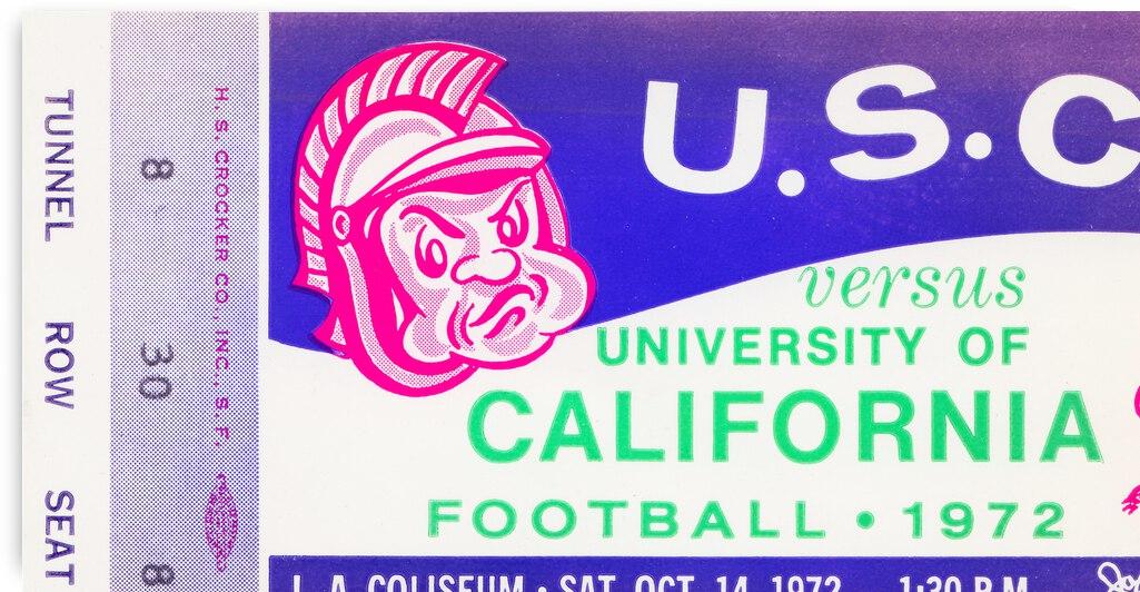 1972 USC Trojans vs. California Bears by Row One Brand