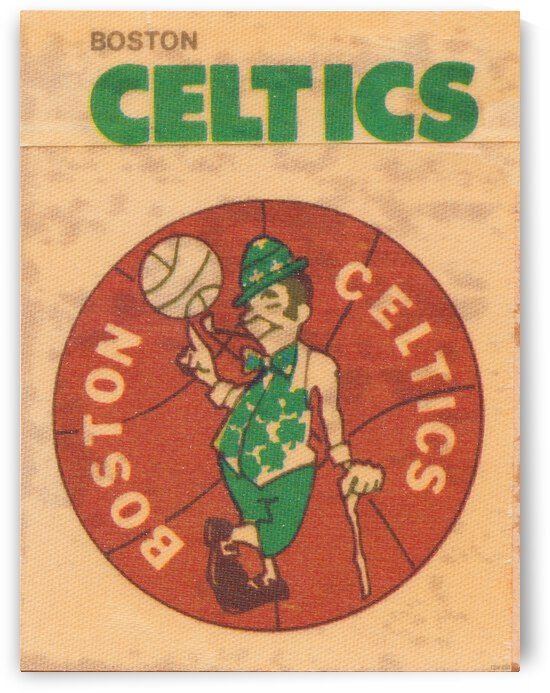 1971 Boston Celtics Fleer Decal Art by Row One Brand