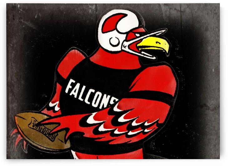 Vintage Atlanta Falcons Art by Row One Brand