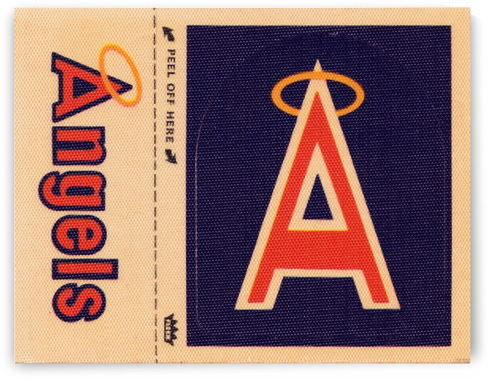 1969 California Angels Fleer Decal Metal Sign by Row One Brand