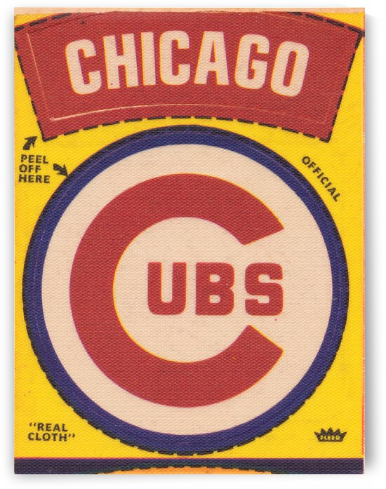 1969 Chicago Cubs Fleer Decal Canvas by Row One Brand