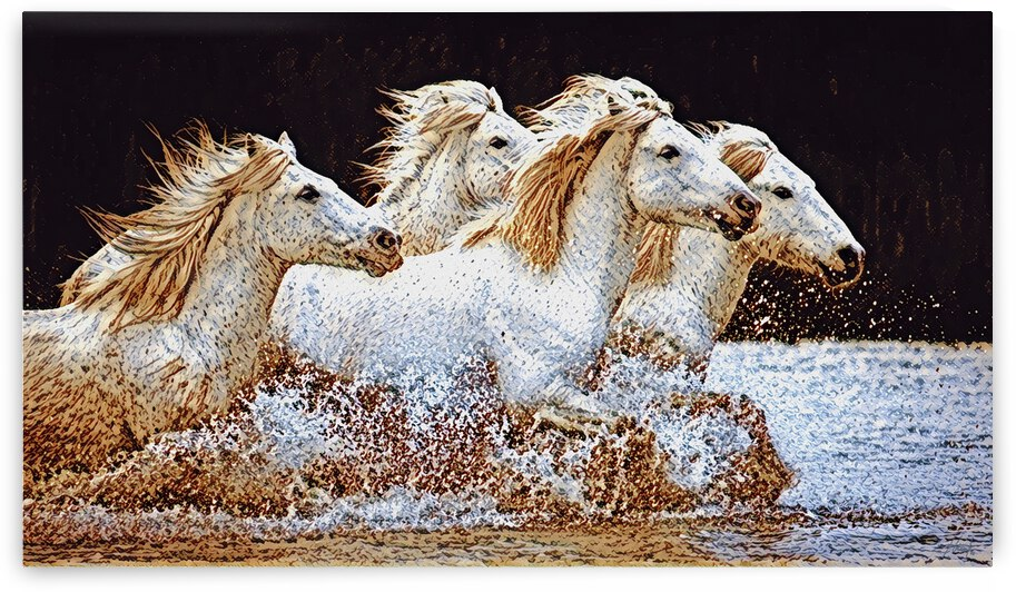 White Horses  by George Bloise