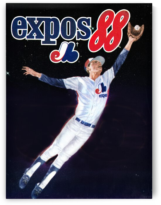 1988 Montreal Expos Poster by Row One Brand