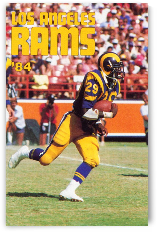 1984 Los Angeles Rams Eric Dickerson Poster by Row One Brand
