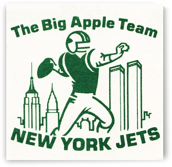 The Big Apple Team New York Jets Art 1976 by Row One Brand