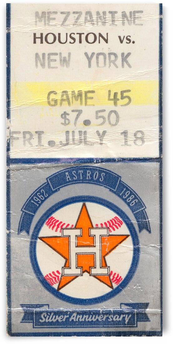 1986 Houston Astros Ticket Stub Canvas by Row One Brand
