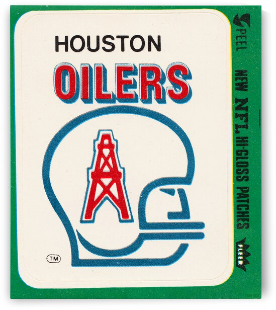 1981 Houston Oilers Fleer Decal Poster by Row One Brand