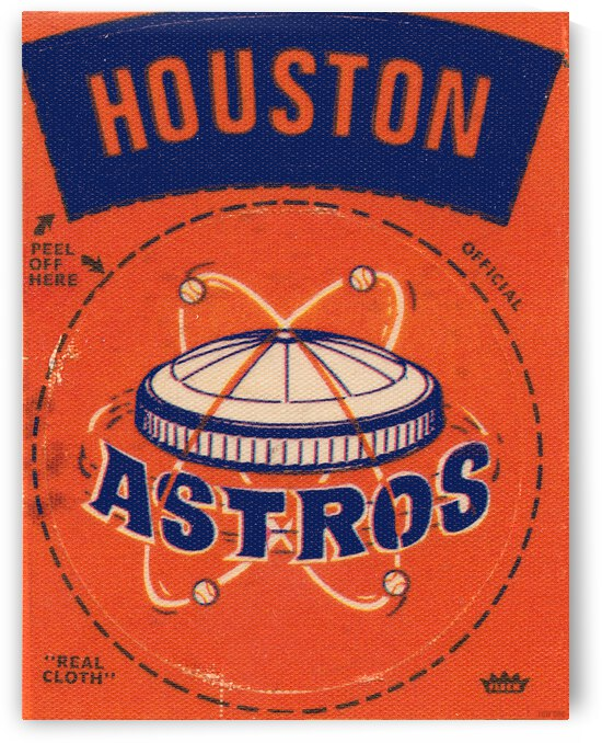 1969 Houston Astros Fleer Decal Metal Sign by Row One Brand