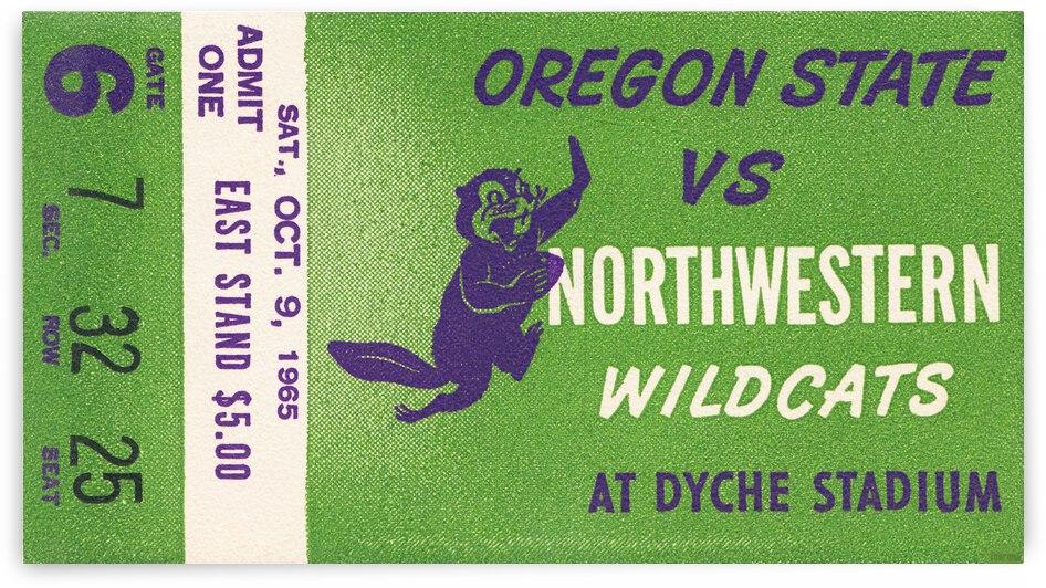 1965 Oregon State vs. Northwestern Football Ticket Stub Canvas by Row One Brand
