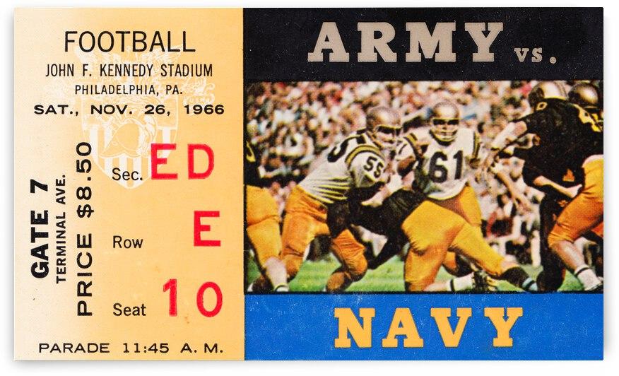 1966 Army Navy Football Ticket Stub Canvas by Row One Brand