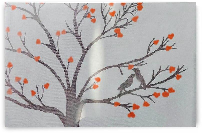 Flower in the Tree Canvas Art by Sabur Ahmed Jishan