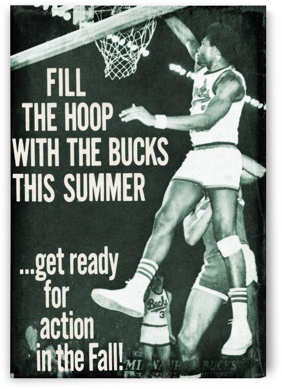1974 Milwaukee Bucks Retro Poster by Row One Brand