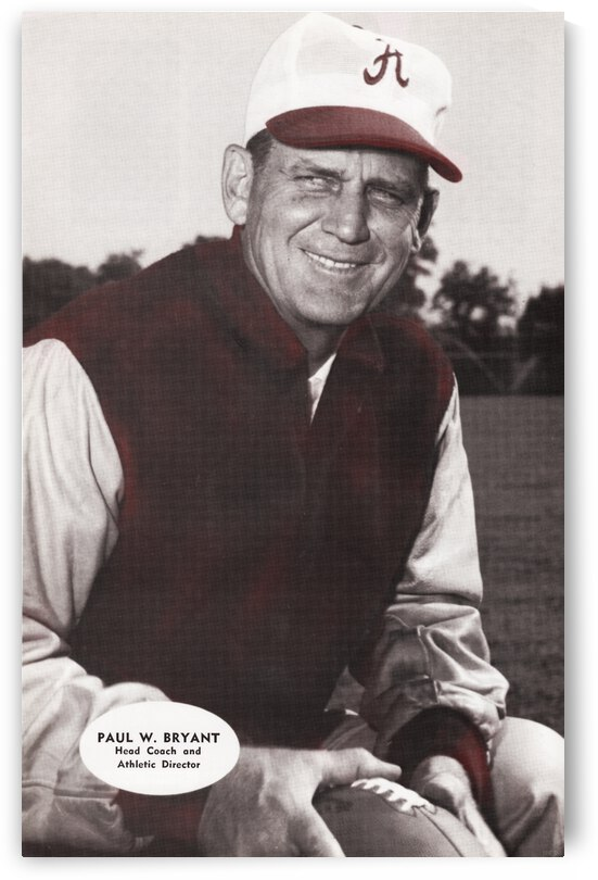 Bear Bryant Photo Art Poster by Row One Brand