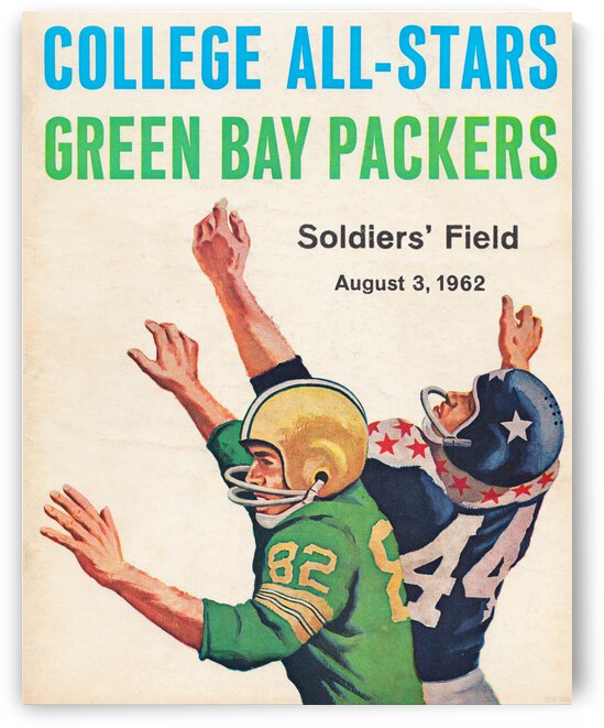 1962 Green Bay Packers vs. College All-Stars by Row One Brand