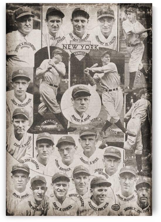 1934 New York Yankees Team Baseball Poster by Row One Brand