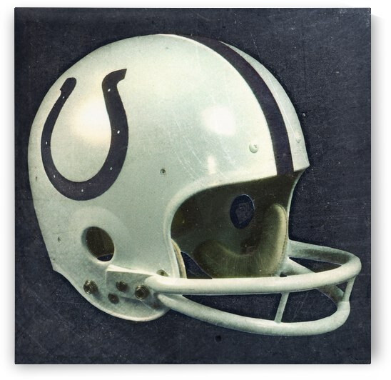 Vintage Baltimore Colts Helmet Art by Row One Brand