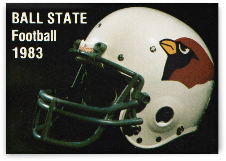 1983 Ball State Cardinals Football Poster by Row One Brand