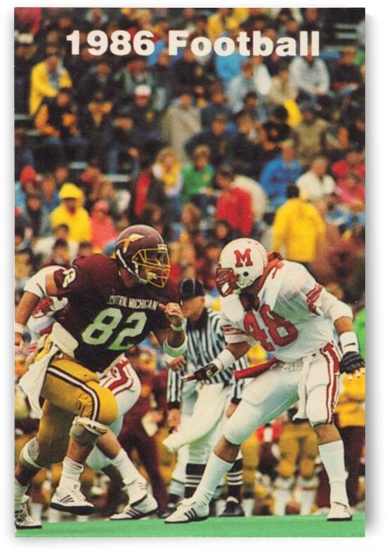 1986 Central Michigan Football Poster by Row One Brand