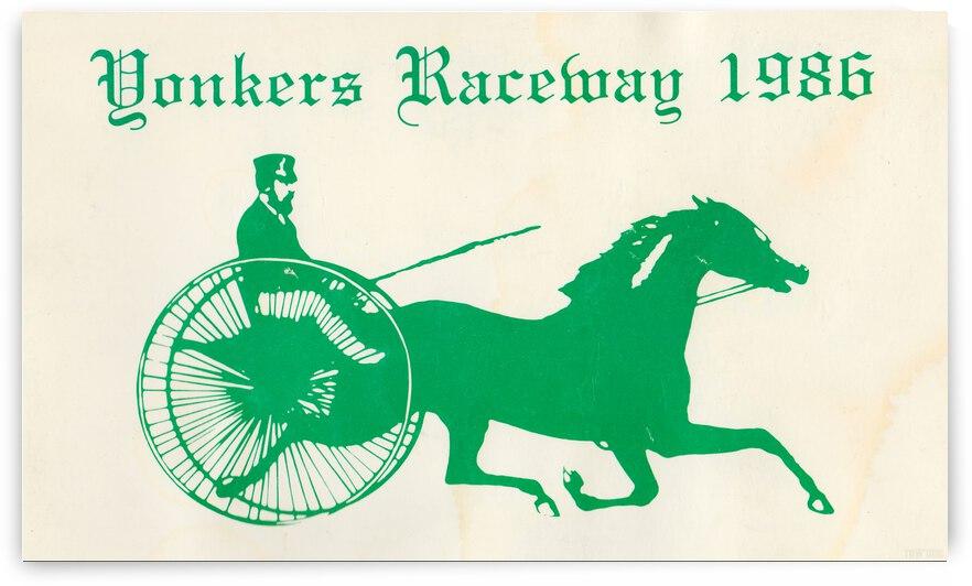 1986 Yonkers Raceway Horse Racing Art by Row One Brand