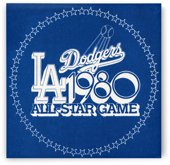 1980 LA Dodgers All-Star Game Art by Row One Brand