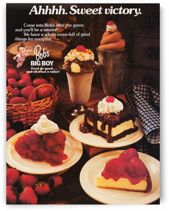 Bobs Big Boy Restaurant Vintage Ad by Row One Brand