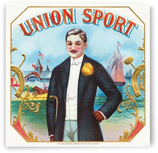 1900 Union Sport Cigar Label Art by Row One Brand