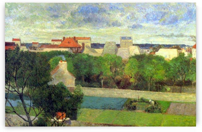Vegetable Famers in Vauguirard by Gauguin by Gauguin