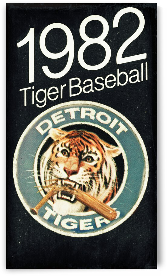 1982 Detroit Tigers Retro Poster by Row One Brand