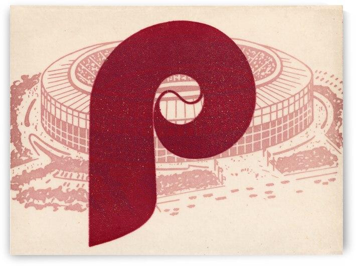 Retro Philadelphia Phillies Baseball Art by Row One Brand