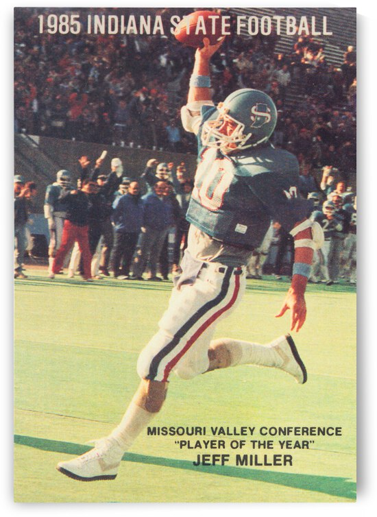 1985 Indiana State Sycamores Football Jeff Miller Poster by Row One Brand