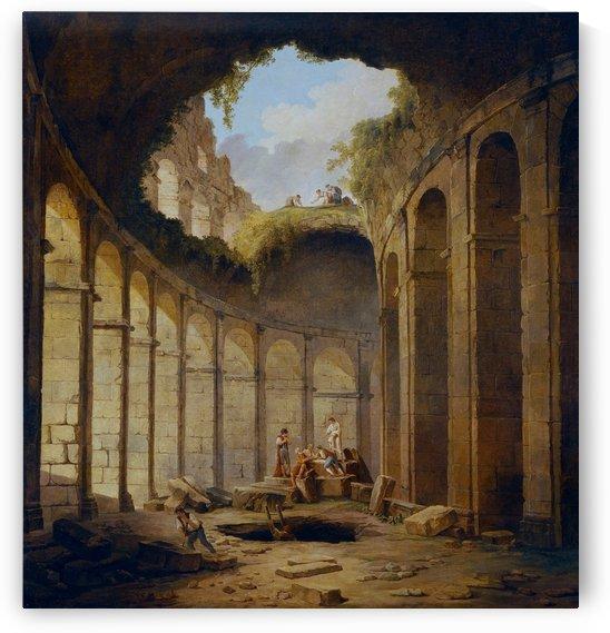 Ruins near Colosseum in Rome, 1790 by Hubert Robert