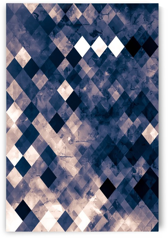 geometric square pixel pattern abstract background in black and white by TimmyLA
