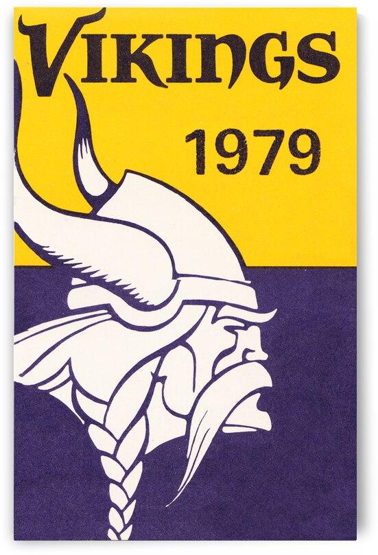 1979 Minnesota Vikings Retro Football Poster by Row One Brand