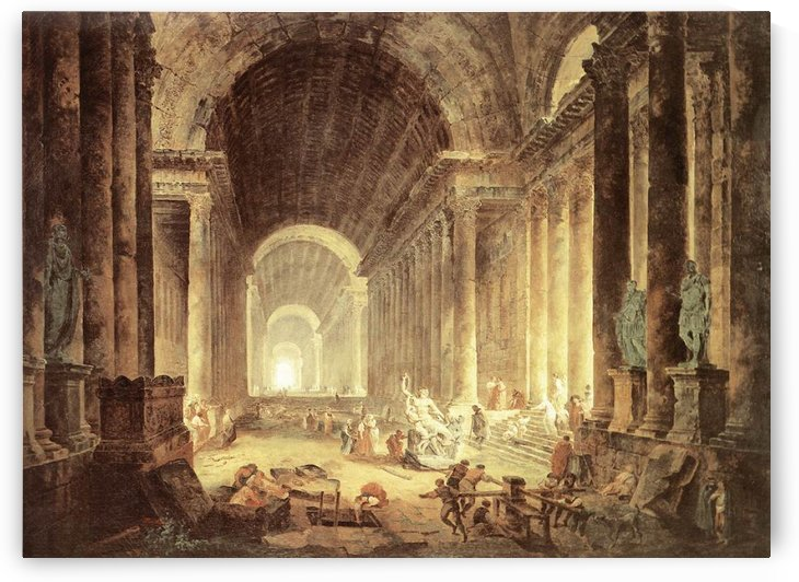 The Finding of the Laocoon by Hubert Robert