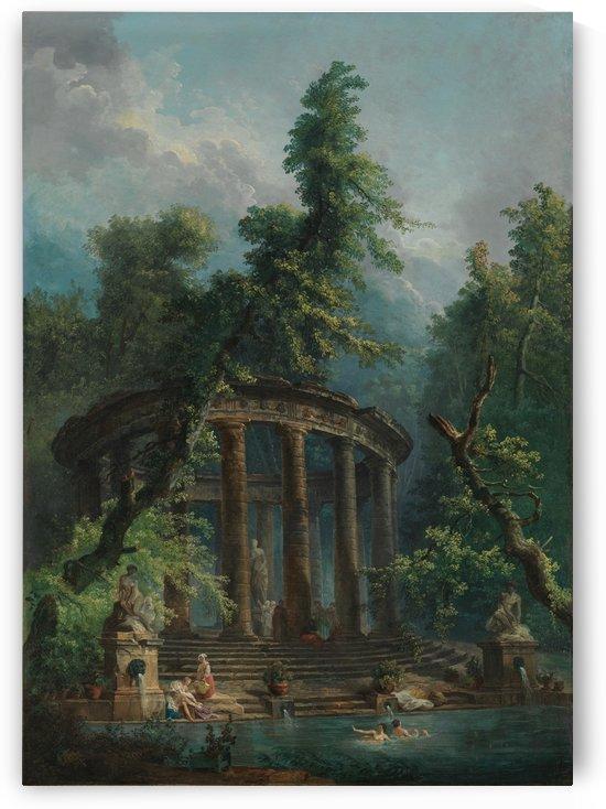 The Bathing Pool by Hubert Robert