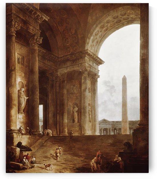 The Obelisk, 1787 by Hubert Robert