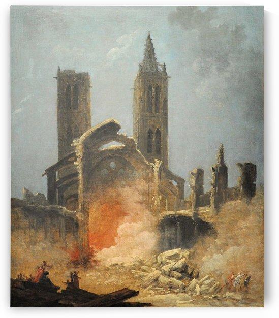 The demolition of Saint-Jean-en-Greve Church by Hubert Robert