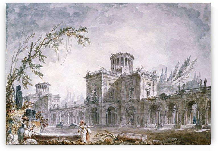 Architectural Fantasy 1760 by Hubert Robert