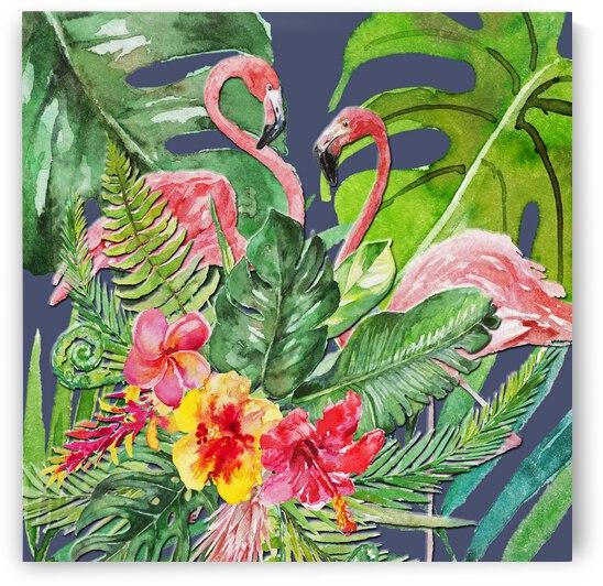 Tropical Caribbean Flamingos by HH Photography of Florida