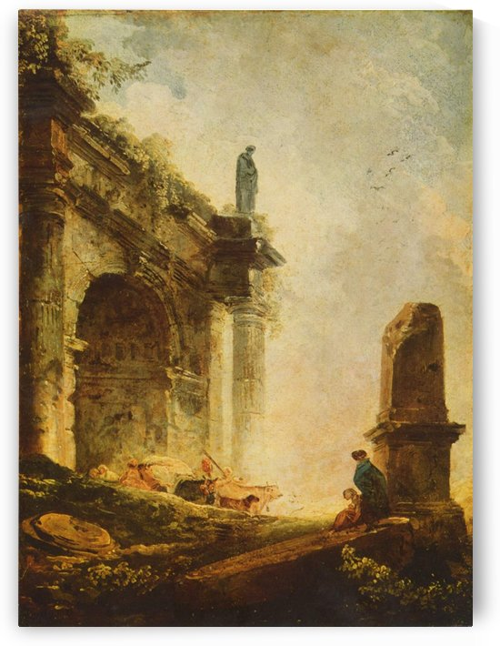 Antic ruins by Hubert Robert