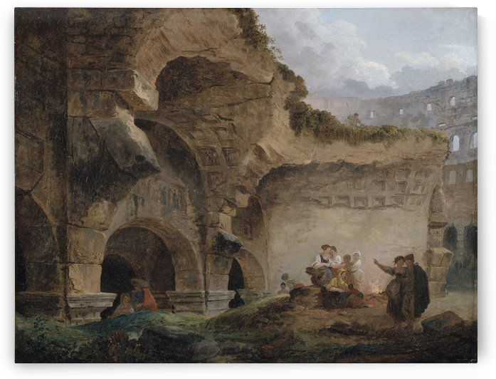 Washerwomen in the Ruins of the Colosseum by Hubert Robert